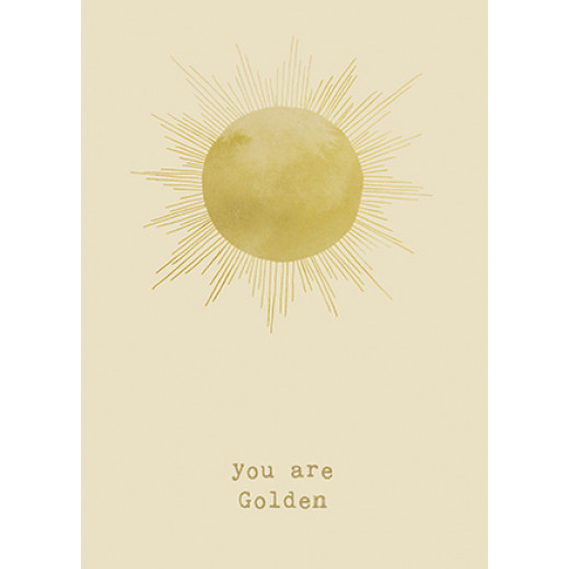 You are golden | Postkarte von Anna Cosma
